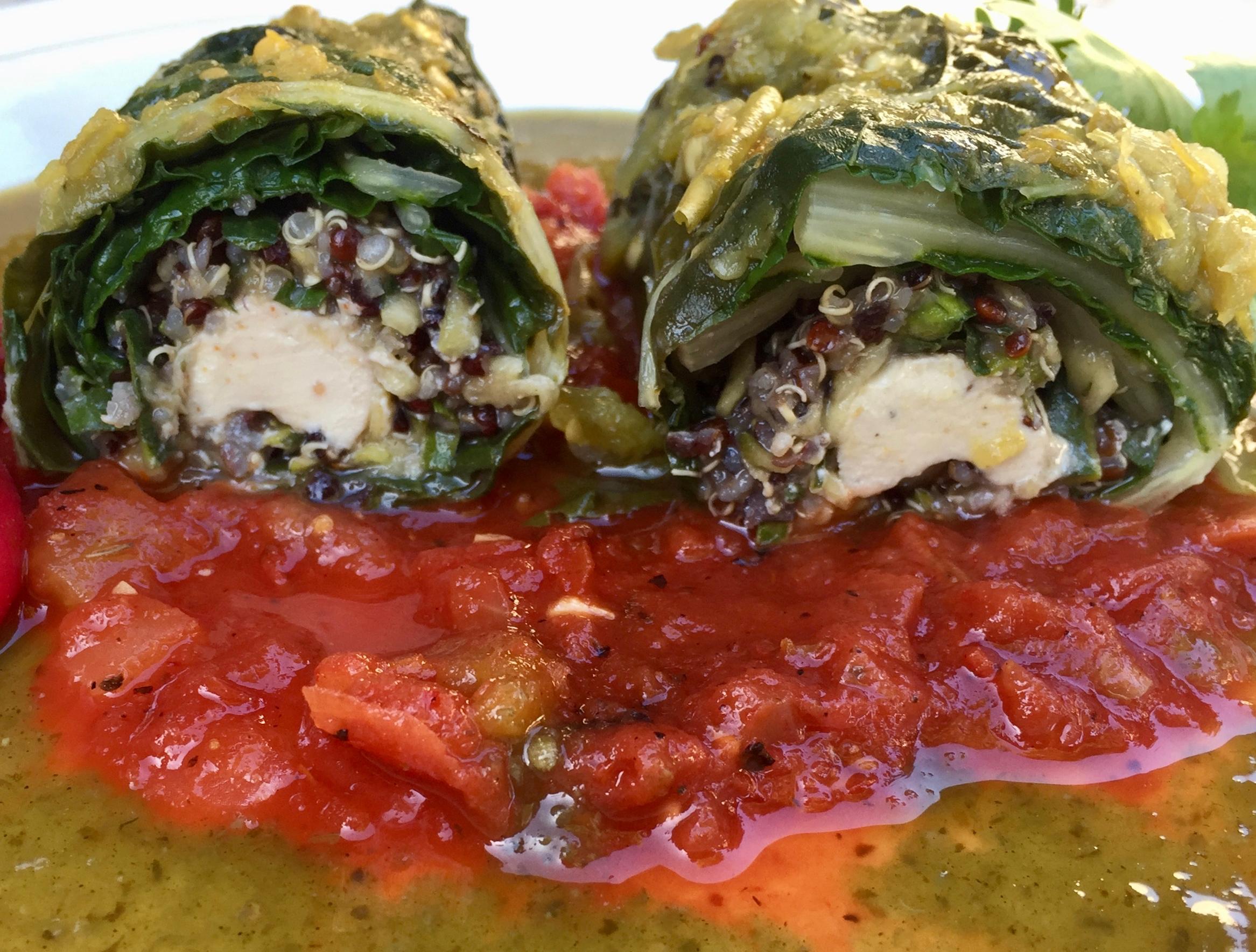 swiss chard enchiladas